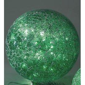 Dekoartikel Mosaikkugellampe in Fröhlichem grün inkl. LED-Lichterkette 25 cm