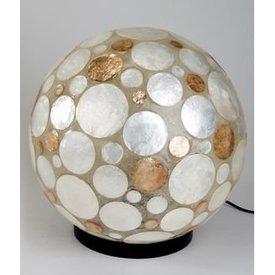 Lampe Kugel mit Muscheldesign, 26 cm