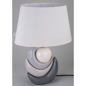 Modische Dekorations Lampe in creme braun. 45 cm hoch