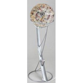 Standfuss für Kugellampe Eisen-silber für 20 cm Kugellampen
