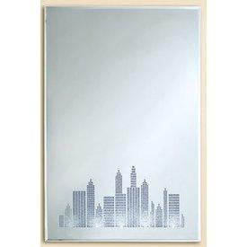 Wandbild Spiegel mit LED Beleuchtung, 40x60 cm