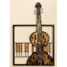Wanddeko Wandrelief Cello, 40x53 cm
