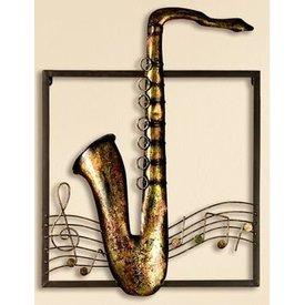 Wanddeko Wandrelief Saxophon, 40x53 cm