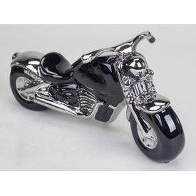 Modell Motorrad, 31 cm, schwarz/silber