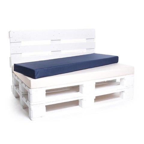 Palettenrückenkissen Matratzenrückenkissen Nylon in Wunschlänge x 42 x 8 cm in Weiss