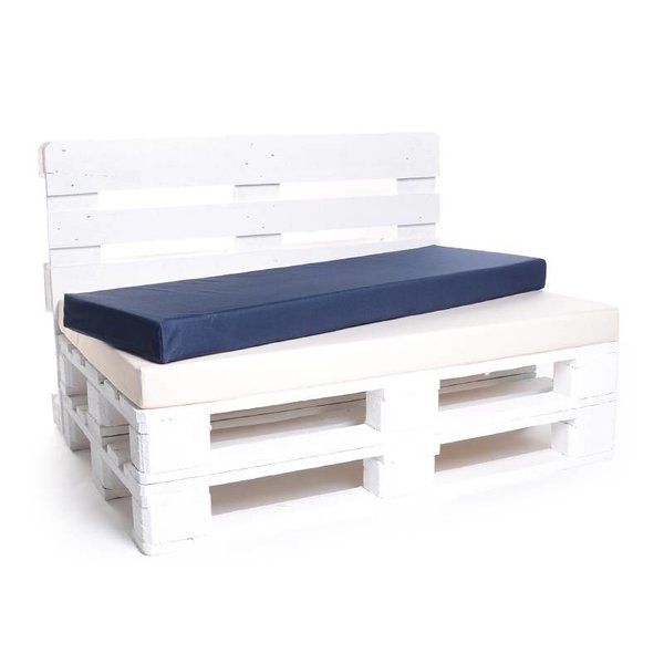 Palettenrückenkissen Matratzenrückenkissen in Wunschlänge x 42 x 8 cm in Nylon und in Weiss
