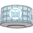Taftan Plafondlamp Busje Blauw/grijs