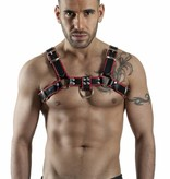 RoB H-Front Harness black with red piping