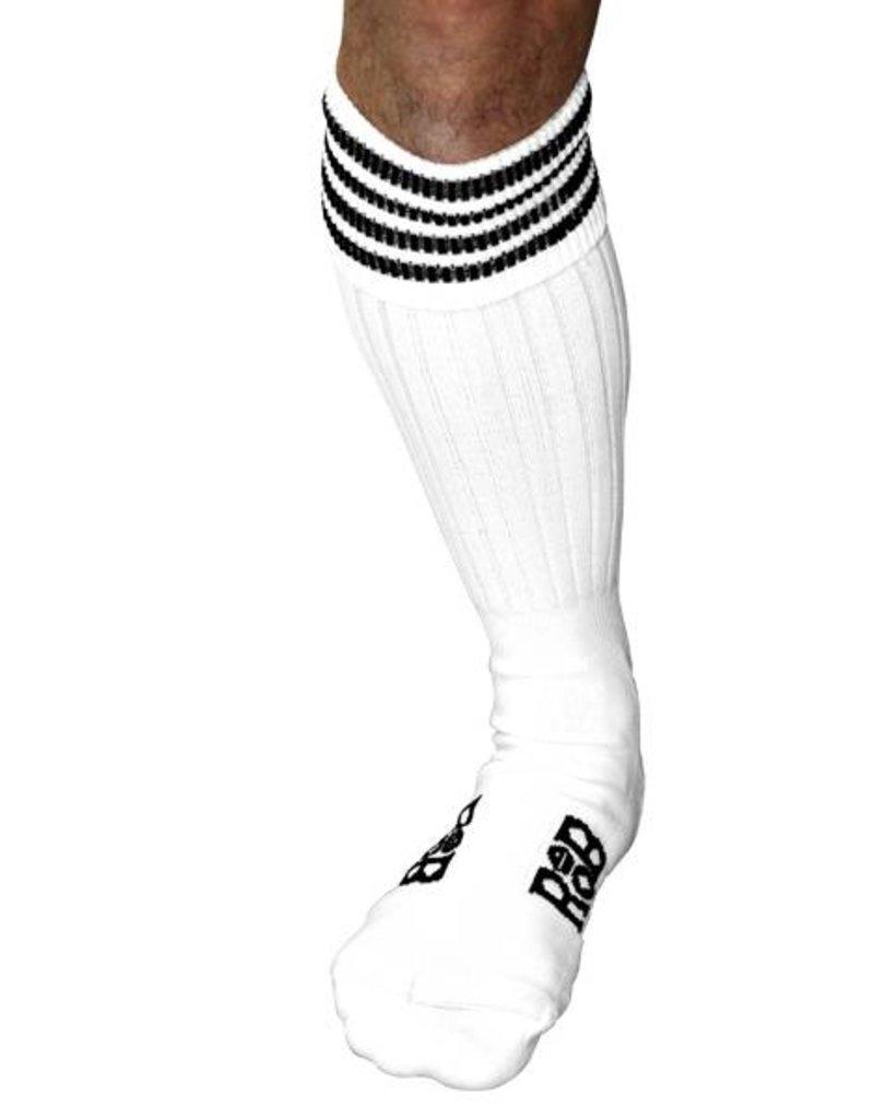RoB RoB Boot Socks White with Black Stripes