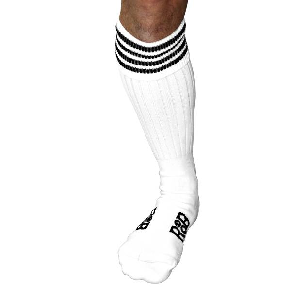 RoB RoB Boot Socks wit met zwarte strepen