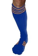 RoB RoB Boot Socks blauw met oranje strepen
