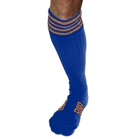 RoB RoB Boot Socks Blue with Orange Stripes