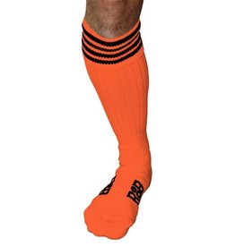 RoB RoB Boot Socks Orange with Black Stripes