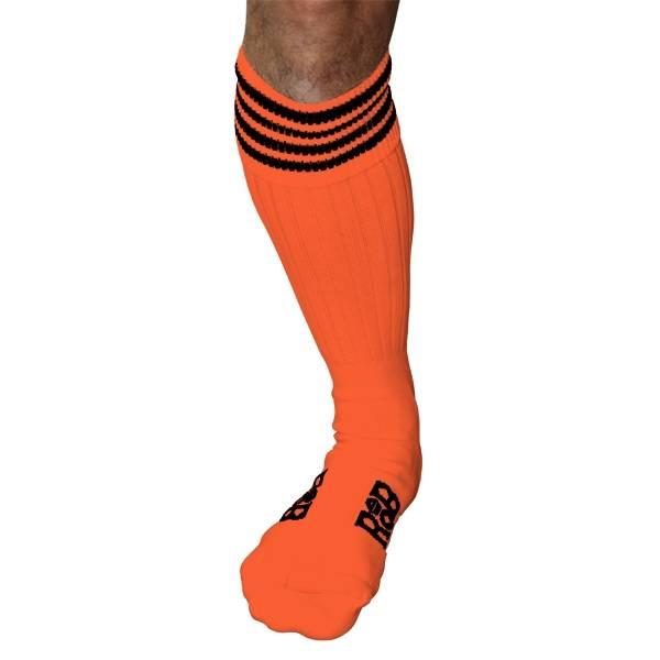 RoB RoB Boot Socks oranje met zwarte strepen