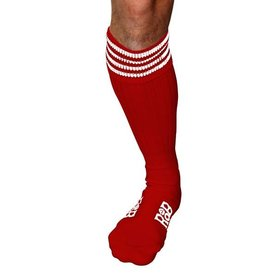 RoB RoB Boot Socks rood met witte strepen