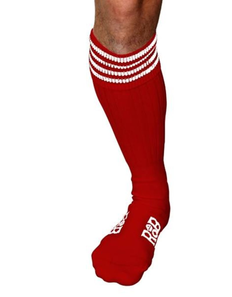 RoB RoB Boot Socks Red with White Stripes