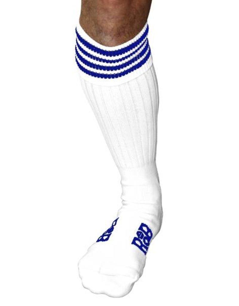 RoB RoB Boot Socks wit met blauwe strepen