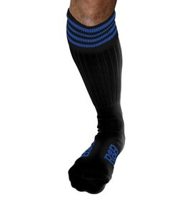 RoB RoB Boot Socks Black with Blue Stripes