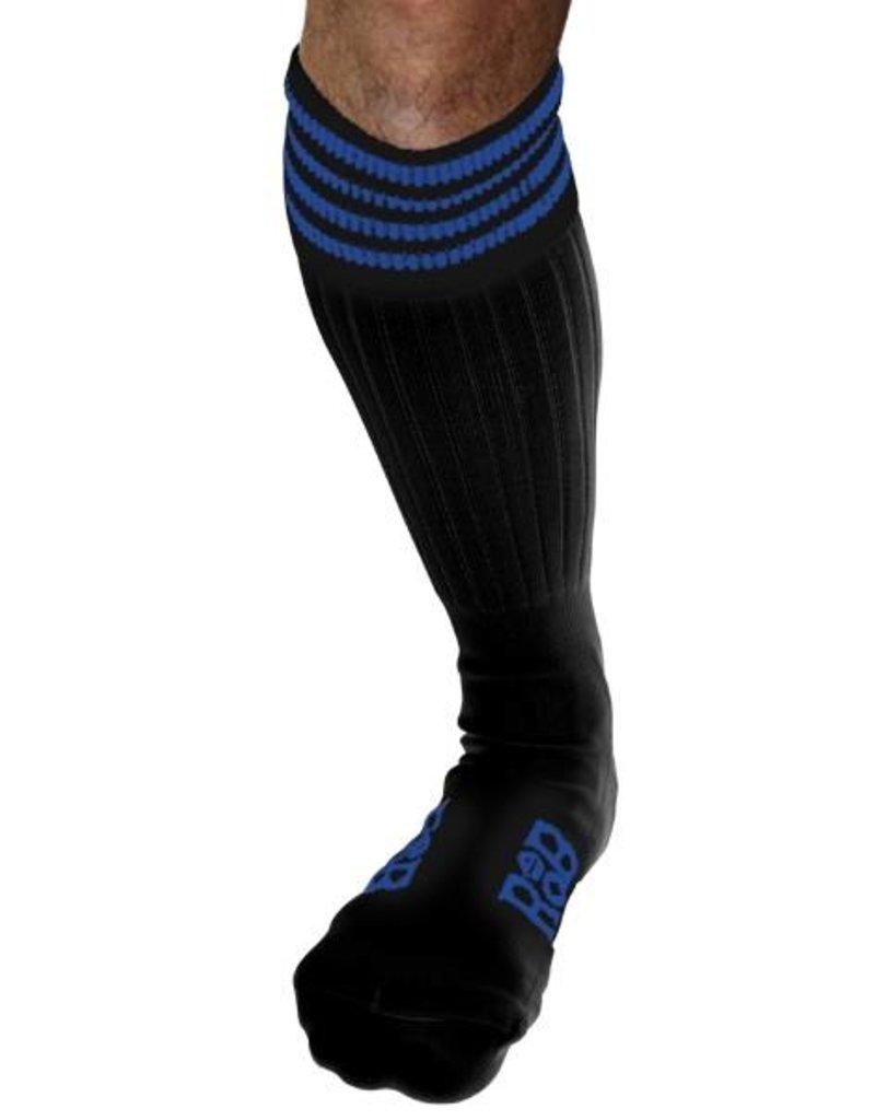 RoB RoB Boot Socks Black with Blue Stripes