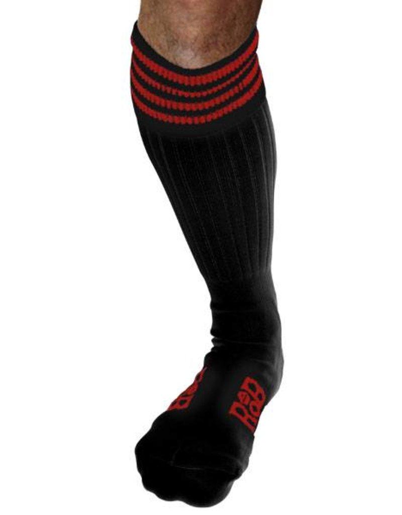 RoB RoB Boot Socks Schwarz mit Rot