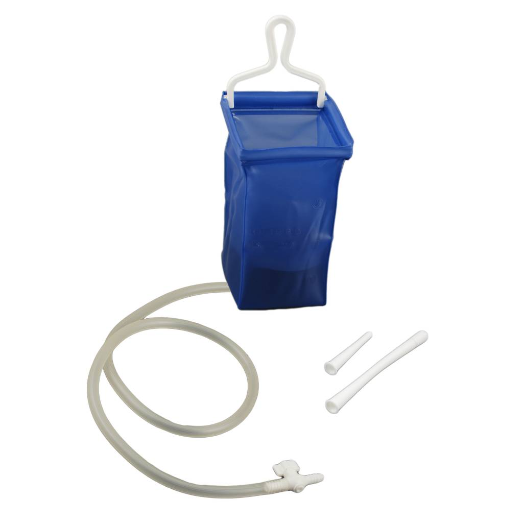 Plastic Enema Bag Travel Set