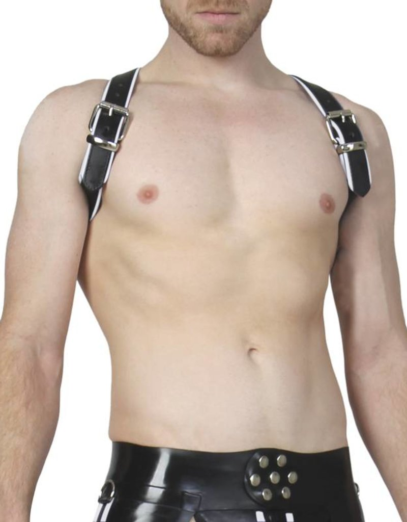 RoB Schulterharness Piping weiss, Schnalle