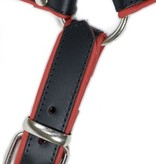 RoB H-Chest Harness schwarz mit rotem Piping