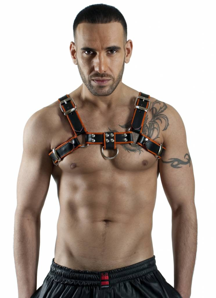 RoB H-Chest Harness mit orange Piping