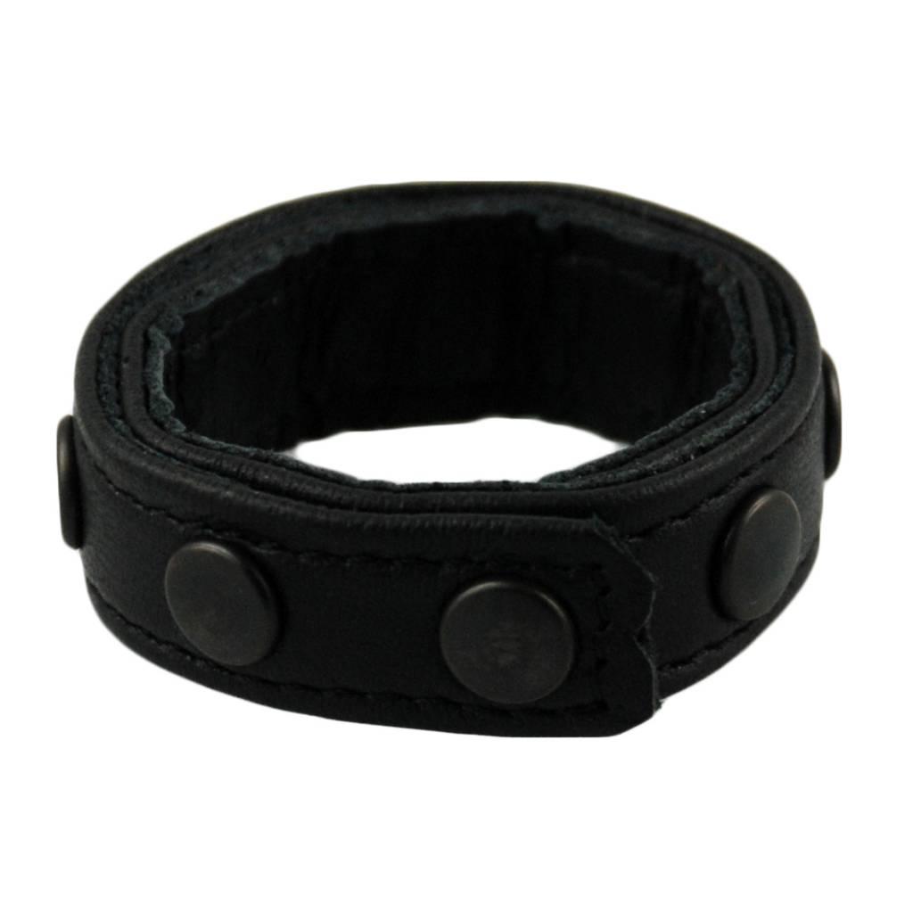 RoB 8-Snap-Cockring Mini Black Studs