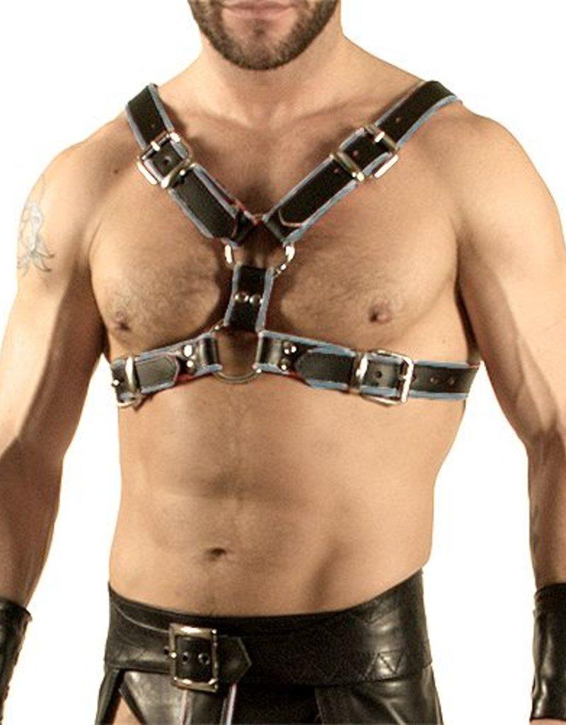 RoB Y-Front Brust Harness schwarz mit grau
