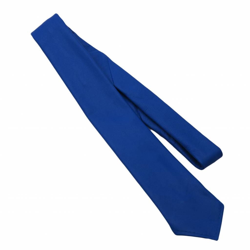RoB Lederkrawatte blau