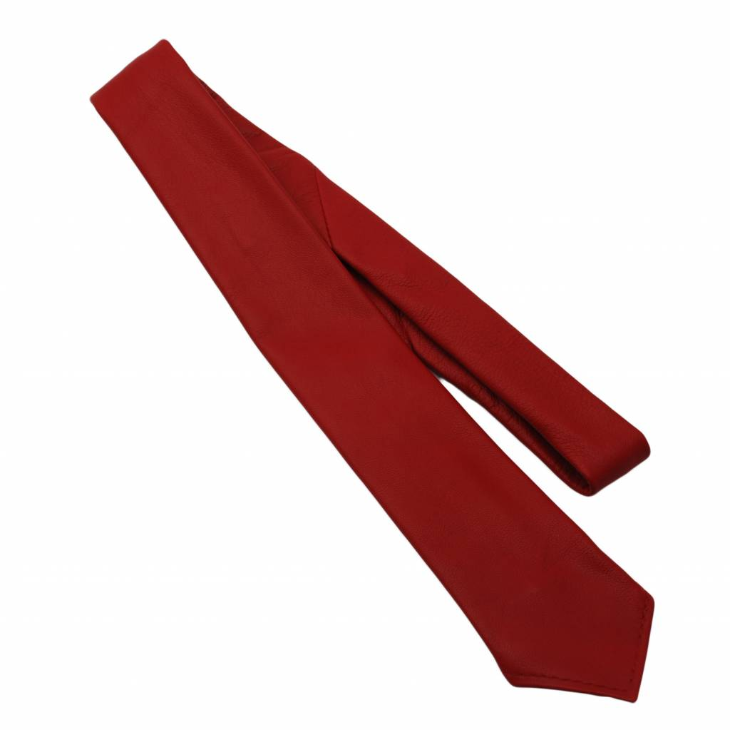 RoB Lederkrawatte rot