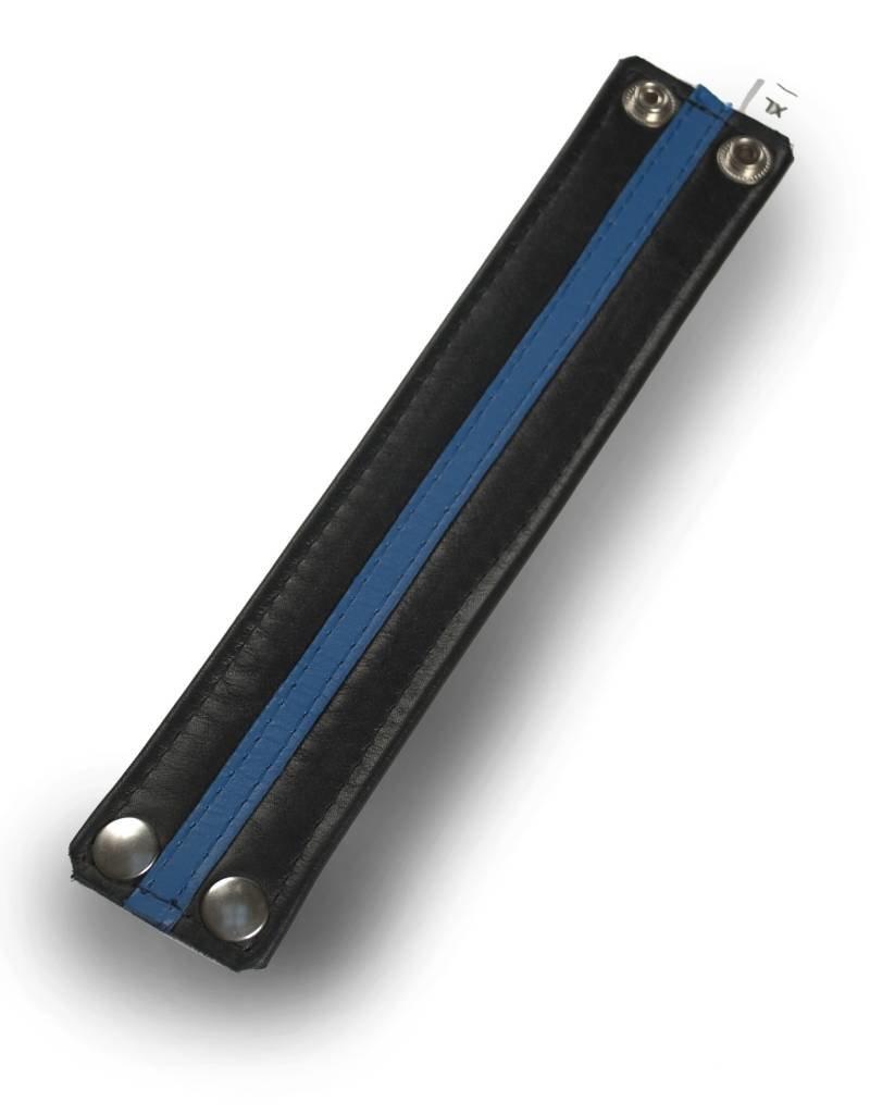 RoB Leder Armband blauer Streifen