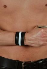 RoB Leder Armband weisser Streifen