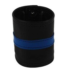 RoB Leder Armgeldbörse, blauer Streifen
