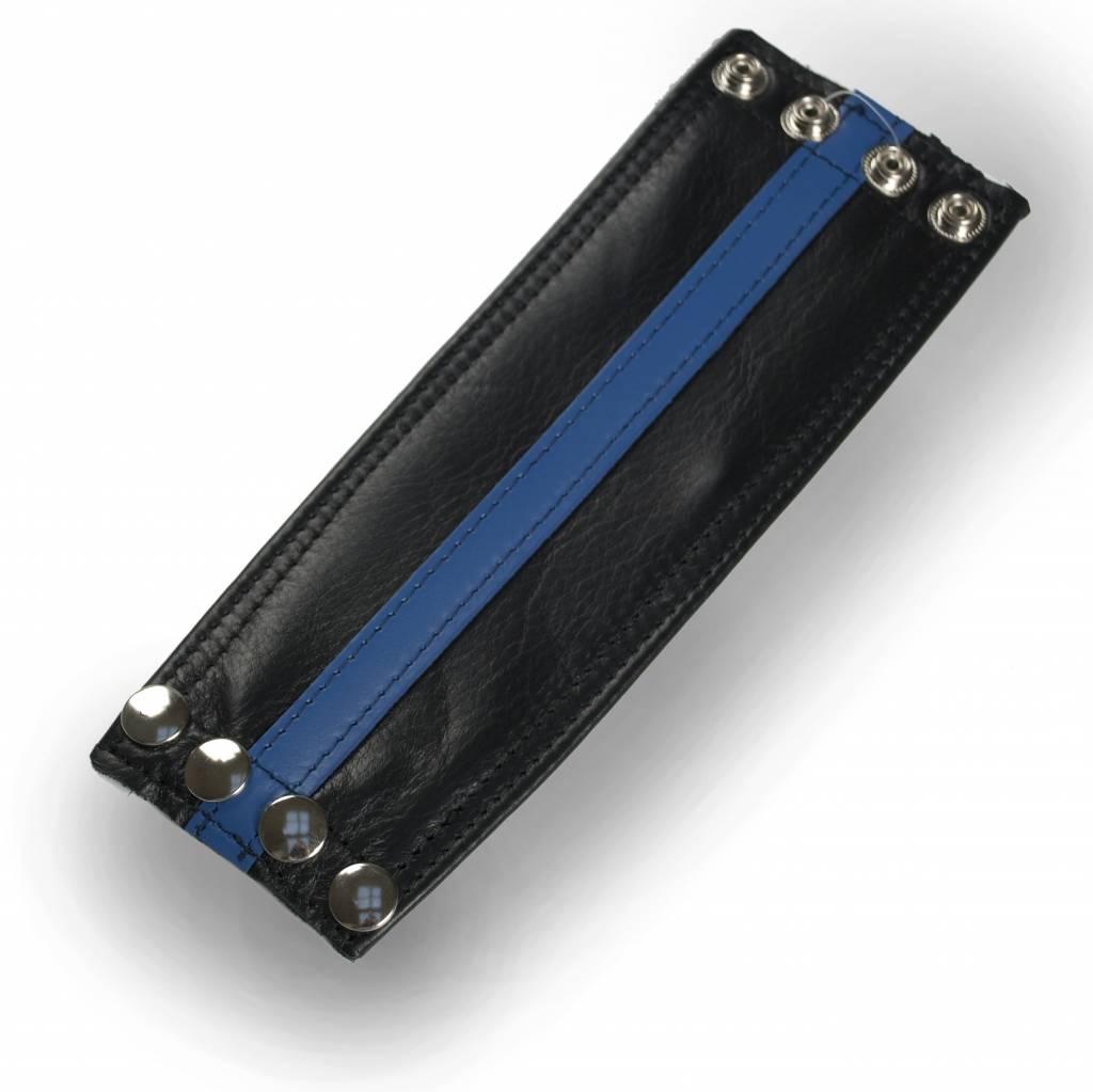 RoB Leder Armgeldboerse, blauer Streifen