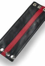 RoB Leder Armgeldbörse, roter Streifen
