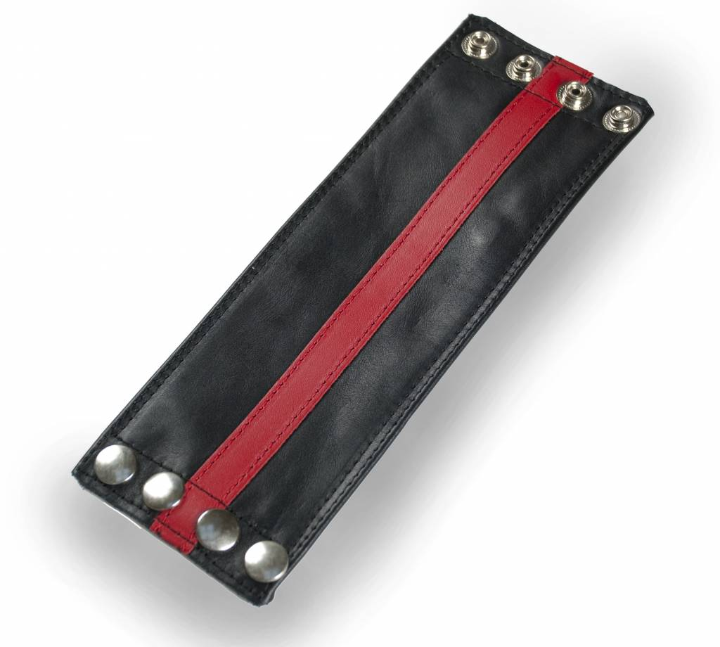 RoB Leather Wrist Wallet Red Stripe