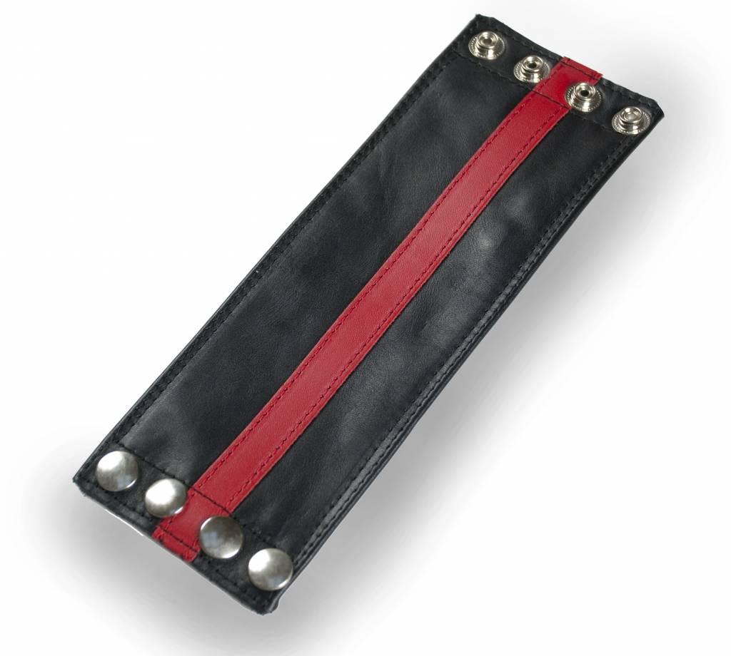 RoB Leder Armgeldboerse, roter Streifen