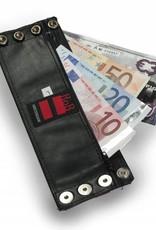 RoB Leder Armgeldbörse, weisser Streifen
