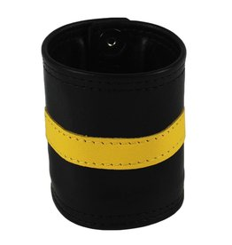 RoB Leder Armgeldboerse, gelber Streifen