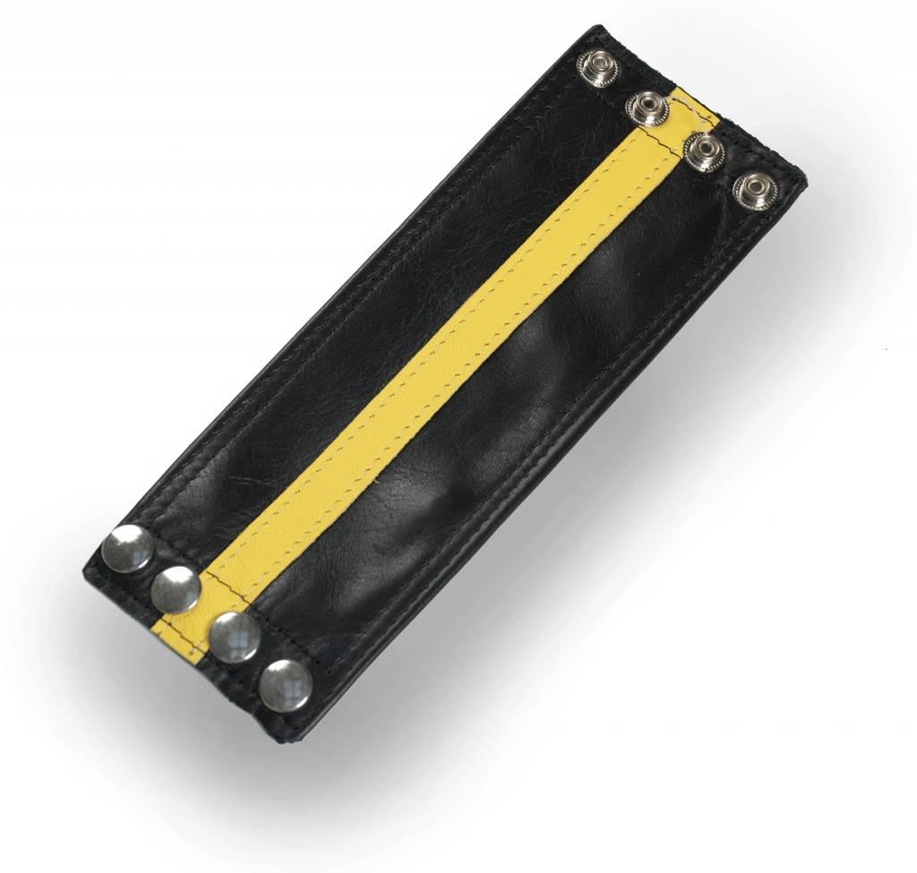 RoB Leather Wrist Wallet Yellow Stripe