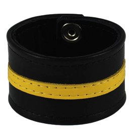 RoB Leder Armband gelber Streifen