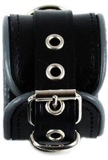 RoB Leather Wrist Restraints Small Grey Piping