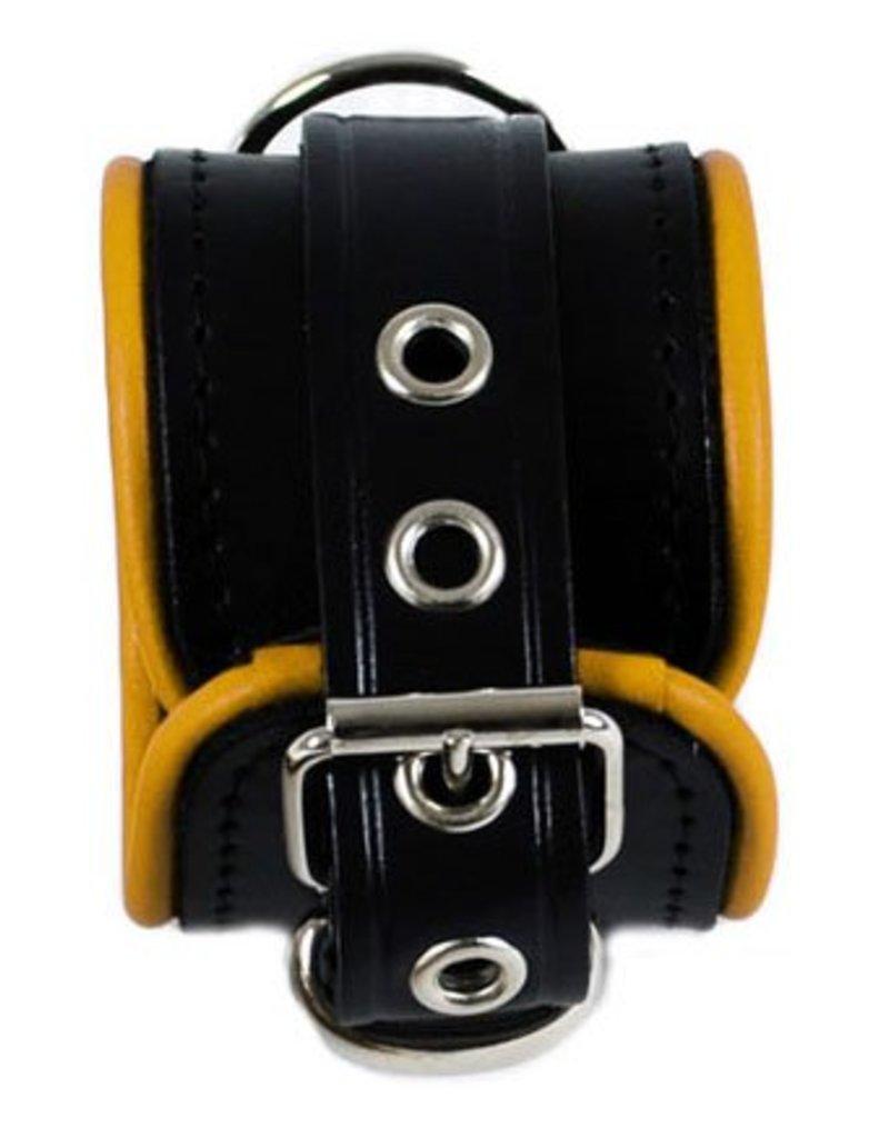 RoB Leder Armfesseln Small Gelber Rand