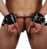 RoB Leather Wrist Restraints Black, Lockable