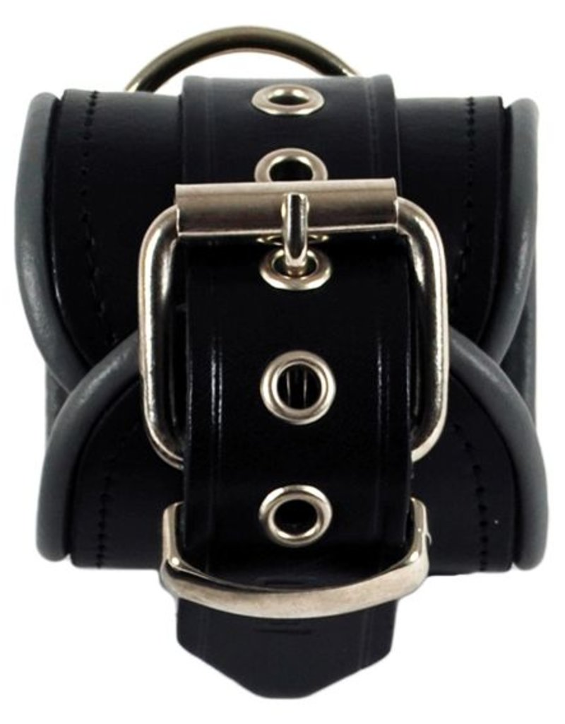 RoB Leather Wrist Restraints Grey Piping