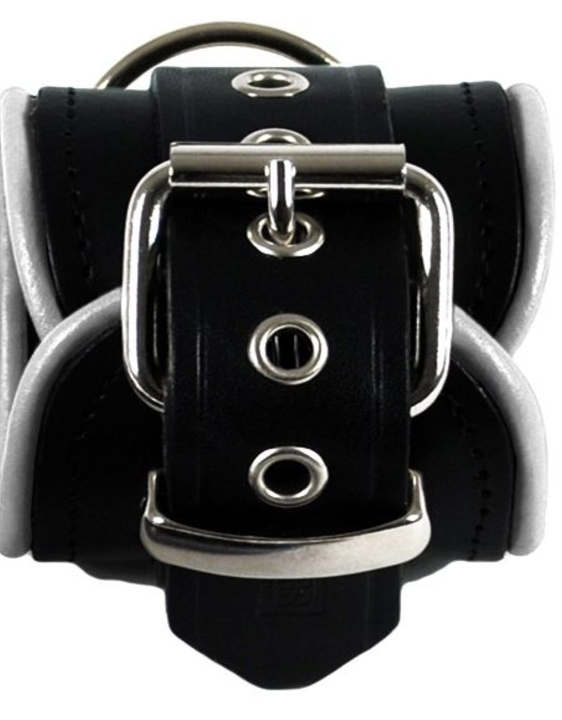 RoB Leather Ankle Restraints White Piping
