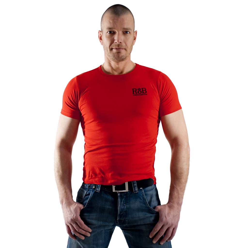 RoB RoB T-Shirt Rood met zwart logo