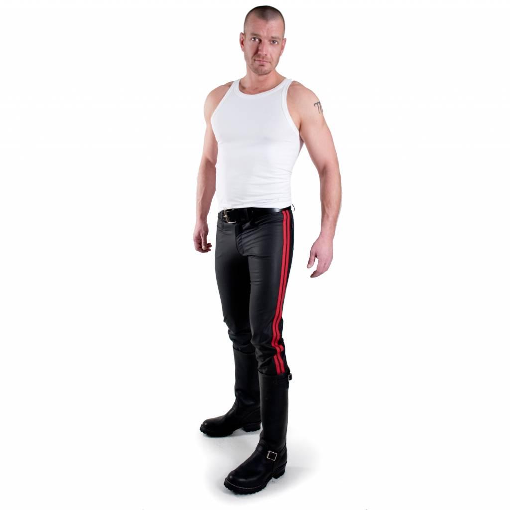 RoB F-Wear Jeans, Rote Doppelstreifen